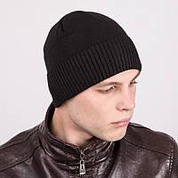 Зимняя вязаная мужская шапка - Артикул m40а