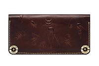Кошелек для женщин кожаный ручной работы