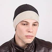 Вязаная мужская молодежная шапка - Артикул m41а
