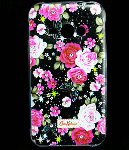 Чехол накладка для Samsung Galaxy J1 ACE J110 силиконовый Diamond Cath Kidston, Ночные розы