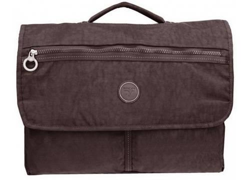 """Коричневый тканевый портфель с отделом для ноутбука 15,6"""" Roncato Rolling 7111/44"""