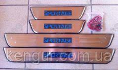 Хром накладки на пороги Kia Sportage