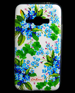 Чехол накладка для Samsung Galaxy J1 2016 J120 силиконовый Diamond Cath Kidston, Прекрасные незабудки