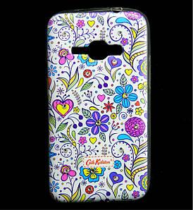 Чехол накладка для Samsung Galaxy J1 2016 J120 силиконовый Diamond Cath Kidston, Цветочная Фантазия