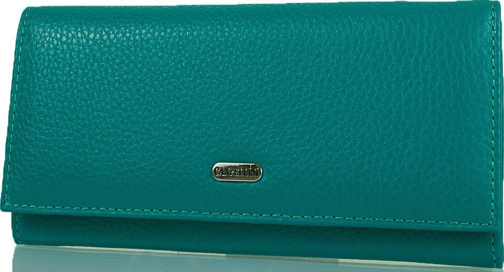 Стильный женский кожаный кошелек CANPELLINI SHI2035-42 зеленый