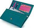 Стильный женский кожаный кошелек CANPELLINI SHI2035-42 зеленый, фото 6