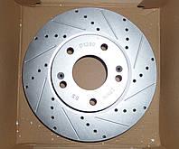 Перфорированный тормозной диск передний HYUNDAI COUPE/TUCSON, KIA CEE'D/SOUL/SPORTAGE