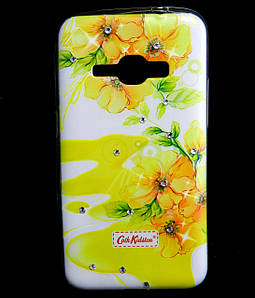 Чехол накладка для Samsung Galaxy J1 2016 J120 силиконовый Diamond Cath Kidston, Sun Flowers