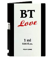 Духи с феромонами для женщин BT Love 1 ml for women. Пробник духов Бесплатная доставка Укрпочтой