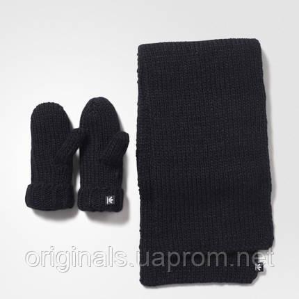 Женский комплект: варежки и шарф adidas originals AY9041 , фото 2