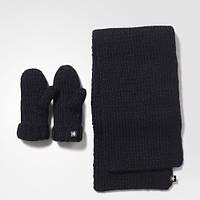 Женский комплект: варежки и шарф adidas originals AY9041
