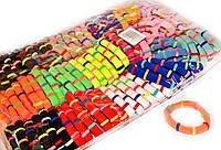 Разноцветные резинки для волос Полоски, набор 100 шт.