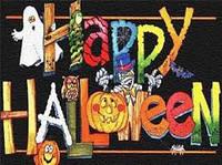 """Вафельные картинки """"Хеллоуин""""для торта А4 Галетте - 01262"""