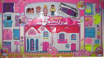 Замок кукольный в комплекте с куколками, автомобилем и мебелью