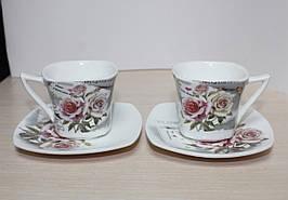 """Кофейный набор на 2 персоны """"Розы"""". Объем 100 мл"""