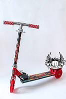 Самокат детский 3-х колёсный складной Тачки