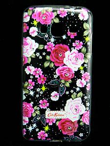 Чехол накладка для Samsung Galaxy J3 J300 силиконовый Diamond Cath Kidston, Ночные розы