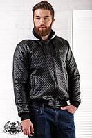 """Мужская стеганная куртка на молнии с капюшоном """" philipp plein """""""