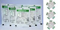 """Перчатки латексные смотровые стерильные не текстурированные с пудрой """"Medicare"""" 100 шт/уп (S,M,L)"""