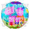 Фольгированный воздушный шар Свинка Пеппа и семья, 44 см