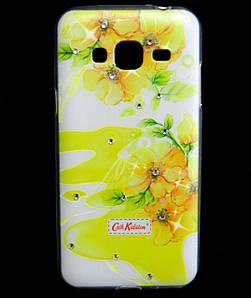 Чехол накладка для Samsung Galaxy J3 J300 силиконовый Diamond Cath Kidston, Sun Flowers
