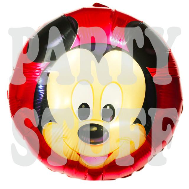 фольгированный круглый шар Микки