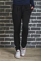 Женские спортивные штаны на манжете черные, фото 1