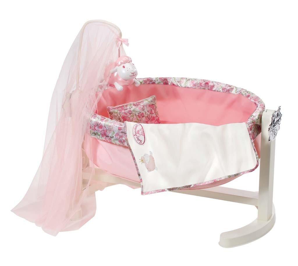 Кроватка колыбель для куклы Беби Анабель интерактивная оригинал Baby Annabell Zapf Creation 792865