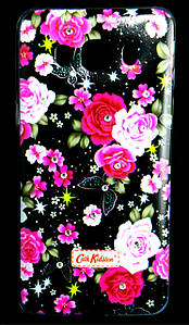 Чехол накладка для Samsung Galaxy J5 2016 J510 силиконовый Diamond Cath Kidston, Ночные розы