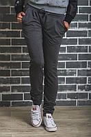 Женские спортивные штаны на манжете темно-серые