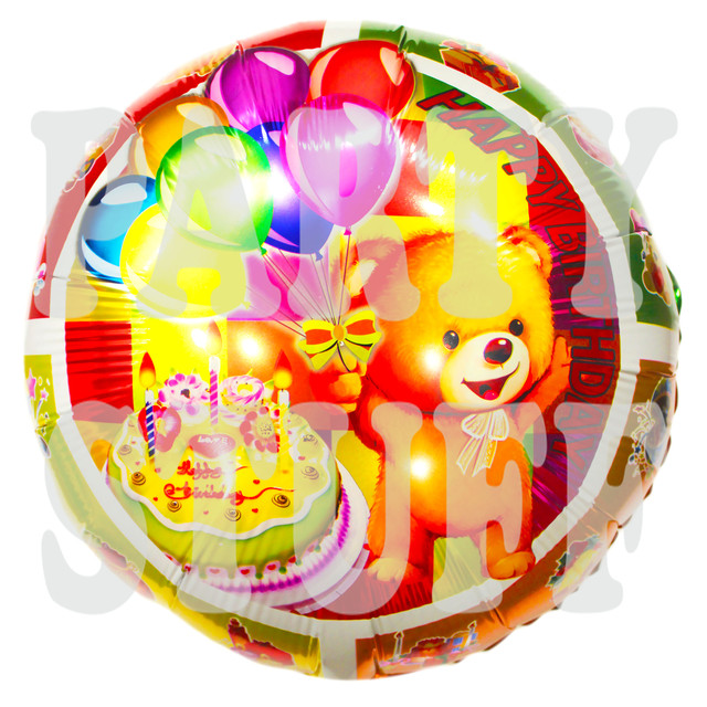 фольгированный шарик с мишкой