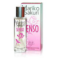Туалетная вода с феромонами для женщин  Mariko Sakuri SENSO 50 ml. Бесплатная доставка Укрпочтой