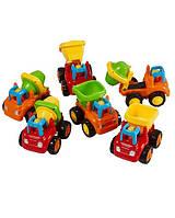 Инерционная машинка Huile Toys, набор строительных машин ( 6шт. )