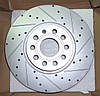 Перфорированный тормозной диск передний AUDI A3/TT, VW GOLF/PASSAT/TOURAN