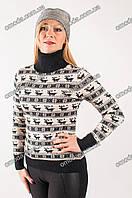 Женский зимний свитер под горло, 5 видов.