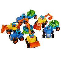 Инерционные машинки Huile Toys, детские строительные машины, набор 6 шт.