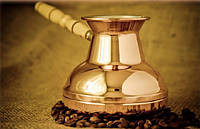 Турка для кофе медная (400 мл) Светлая