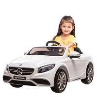 Детский электромобиль  Mercedes AMG S63: 2.4G, EVA, 8 км/ч, мягкое сидение - WHITE (TB)- купить оптом, фото 1