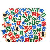 Набор Украинский алфавит на магнитах 72 буквы, Komarovtoys