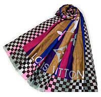 Платок LOUIS VUITTON Art  малина/ охра