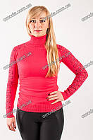 Красивый женский гольф, три цвета: молочный, беж, корал