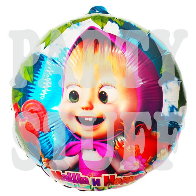круглый фольгированный шар Маша