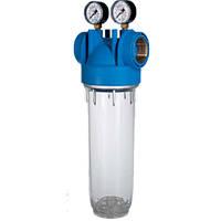 Фильтр для холодной воды  1/2  3/4  1  Atlas DP M10 mono с манометром