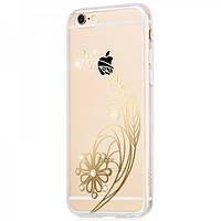 Чехол Hoco Super Star Series Plating Inlay Diamond Feather для iPhone 6/6S Plus