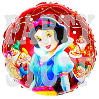 Надувной фольгированный шарик Белоснежка, 44 см