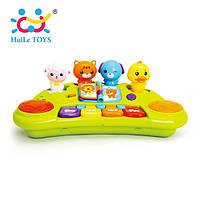 """Детское пианино Huile Toys """"Пианино со зверятами"""", детское музыкальное пианино"""