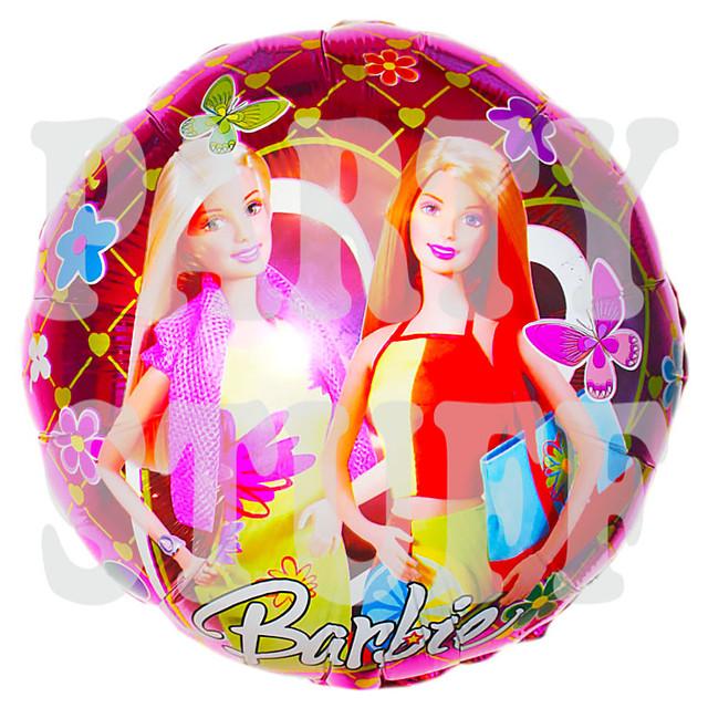 Барби фольгированный шар