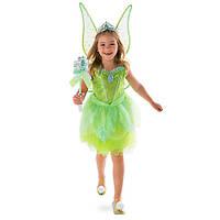 Карнавальный костюм феи Динь-Динь + светящиеся крылья Дисней/ Disney Tinkerbell, фото 1