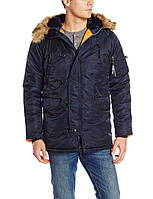 Куртка Alpha Slim Fit N-3B Parka - replica blue\orange