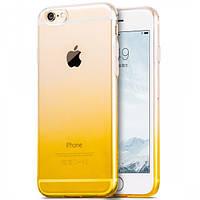 Чехол Hoco Black Series Gradient TPU для iPhone 6/6S Plus желтый, фото 1